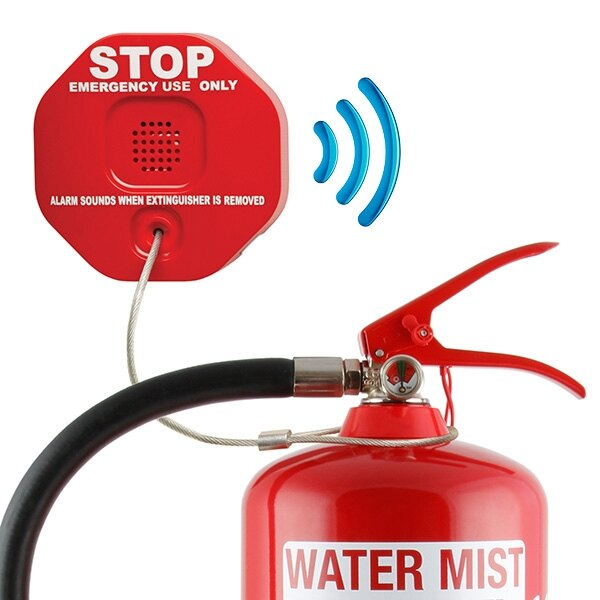 Wireless Fire Extinguisher Theft Stopper with Transmitter