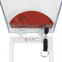 STI 6532G Stopper fire alarm call point cover with built-in sounder