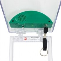 STI 6533/G Stopper emergency call point cover with built-in sounder