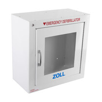 Clear vision panel helps to identify the defibrillator