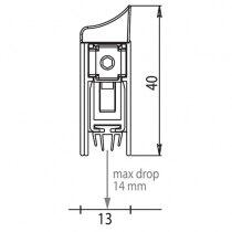 Surface mounted drop down smoke seal maximum drop