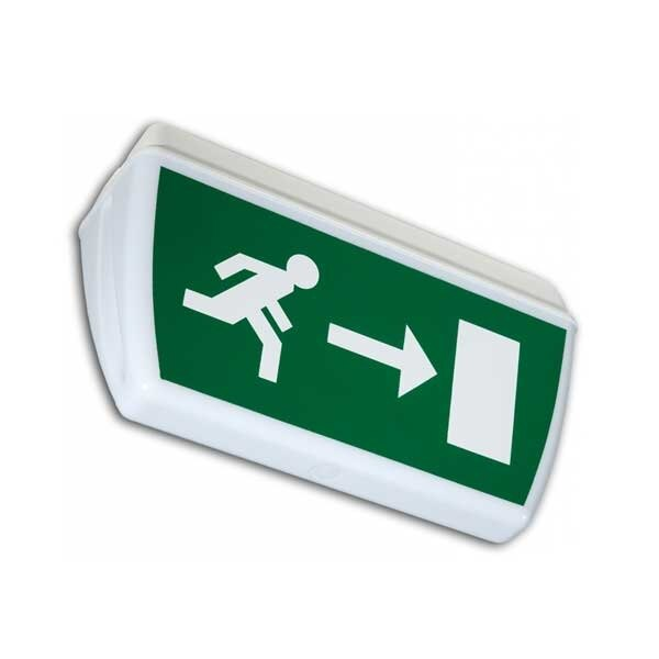Tiel Double-Sided IP65 Fire Exit Sign