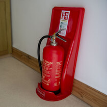 Helps to identify the location of fire extinguishers
