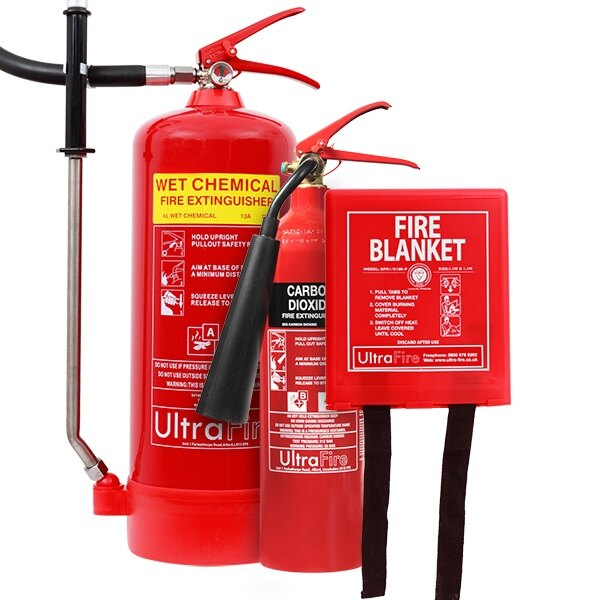 6ltr Wet Chemical, 2kg CO2 Extinguisher & Blanket Offer
