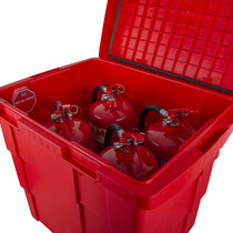 Has the ability to store up to 4 x 6kg / 6ltr fire extinguishers