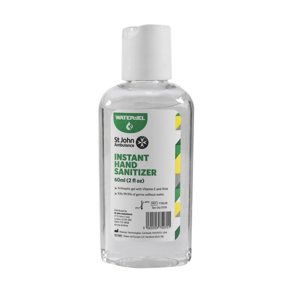 Water-Jel Instant Hand Sanitiser - 60ml click-top bottle