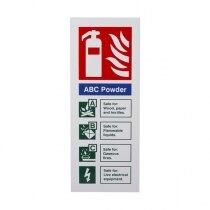 Extinguisher I.D. Sign - ABC Powder