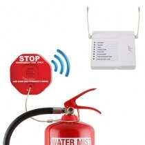 Wireless Fire Extinguisher Theft Stopper and 8 Channel Receiver Pack