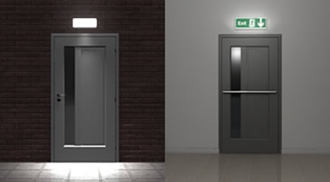 Locating your emergency lights for Exterior emergency exit lights