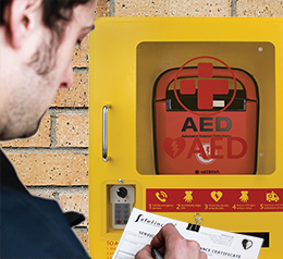 AED Defibrillator Inspection