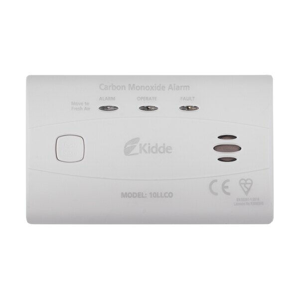 10 Year Long-Life Battery LED Carbon Monoxide Detector - Kidde 10LLCO