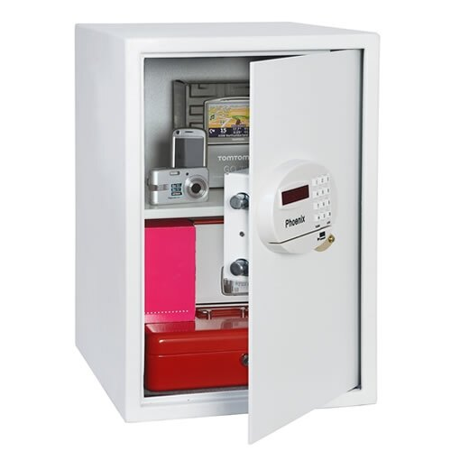 The Phoenix Saracen 0937 Security Safe half open door