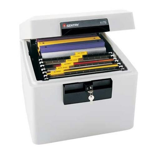 Fireproof Box For Paper and Digital Media (suitable for A4 Suspension Files) - Sentry 1175