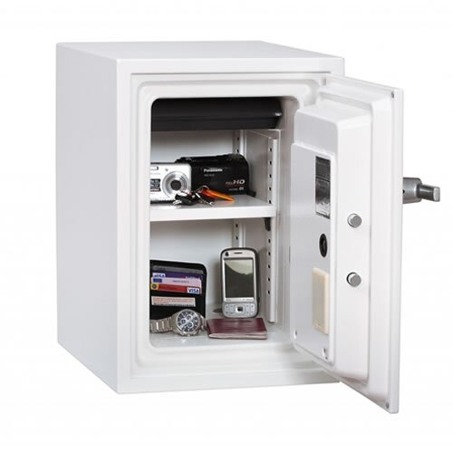 The Phoenix Titan 1252 fireproof safe with built-in alarm internal view