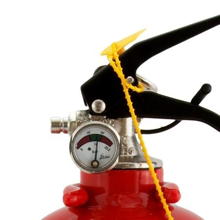 Safelincs 1kg Powder Fire Extinguisher - pressure gauge and handle