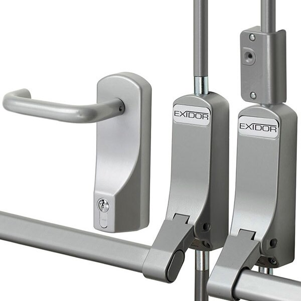 Exidor 284 Double Door Panic Bar Set With 2 Bolts