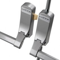 Image of the Exidor 285 Double Door Panic Bar Set With Latch & Bolt