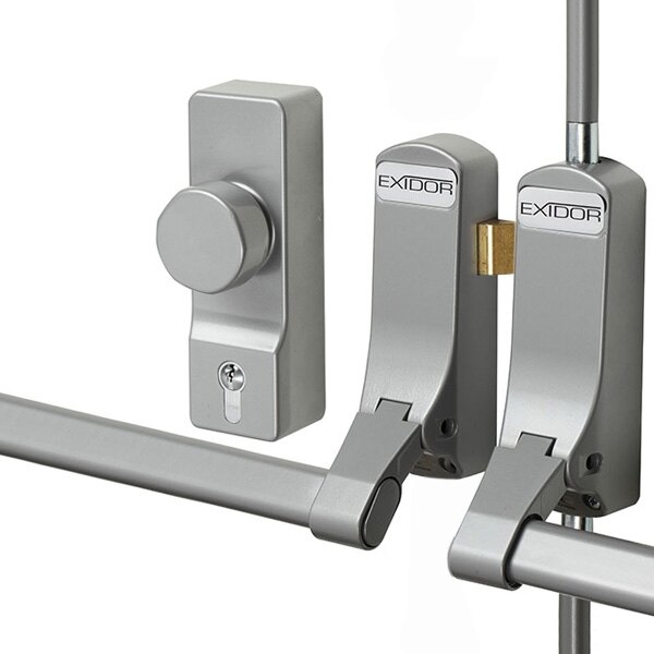 Exidor 285 Double Door Panic Bar Set With Latch Amp Bolt