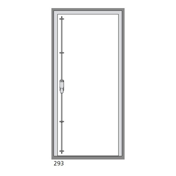 The Exidor 293 can be installed on either side of the exit door