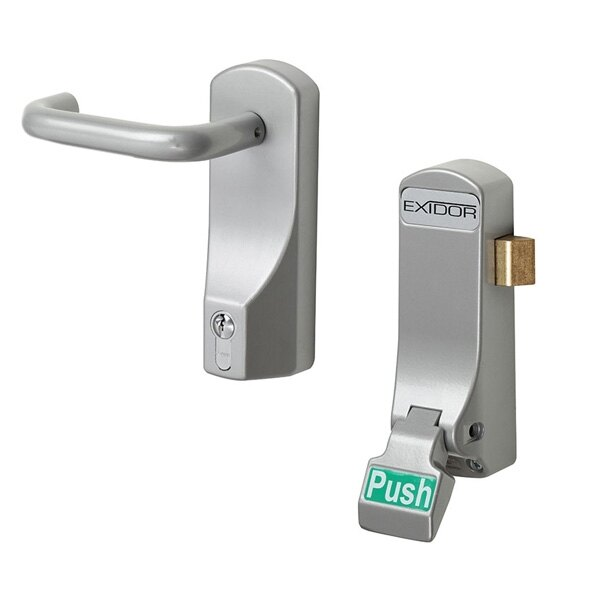 Exidor 297 Single Door Push Pad With Latch  sc 1 st  Safelincs : door push - pezcame.com