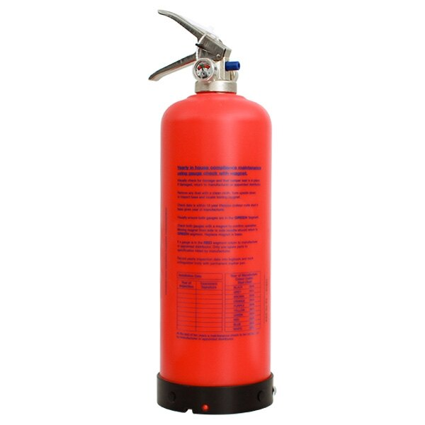 The 2kg powder P50 fire extinguisher is manufactured in the UK