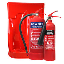 Image of the 6kg Powder, 2kg CO2 Fire Extinguisher & Double Stand Special Offer