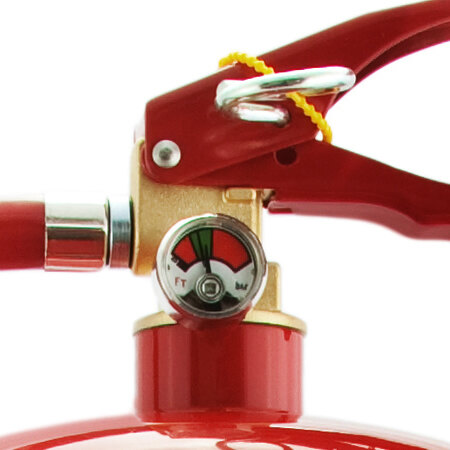 Safelincs 6 litre AFFF foam fire extinguisher head and pressure gauge