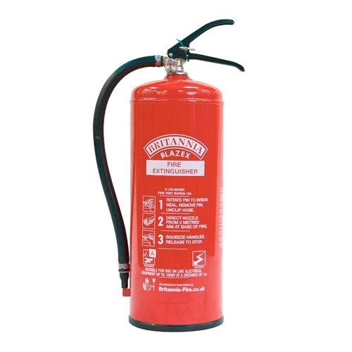 6ltr Water Fire Extinguisher with Additive - Britannia