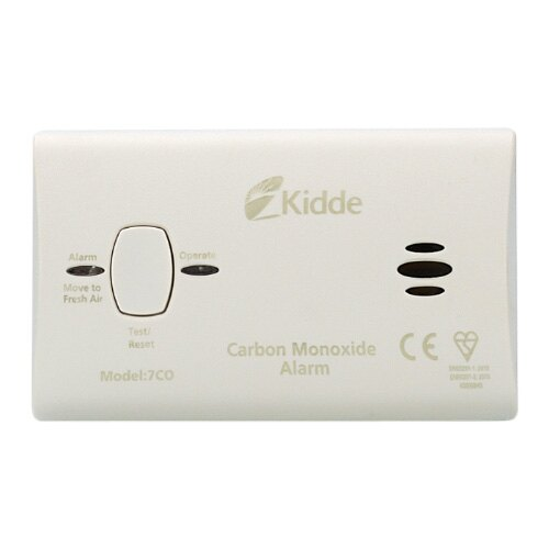 10 Year LED Carbon Monoxide Detector -<br> Kidde 7COC