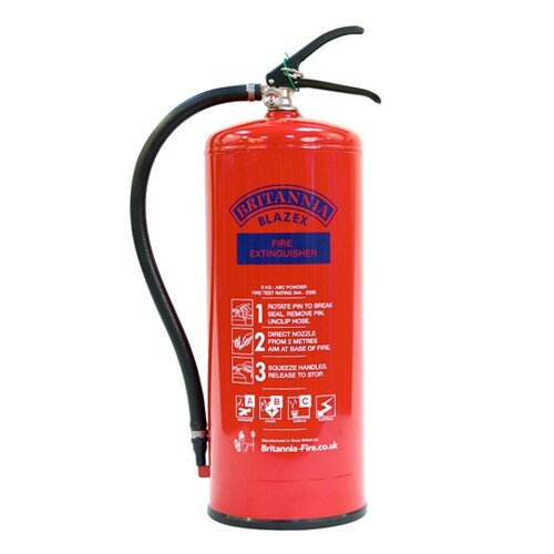 9kg Powder Fire Extinguisher - Britannia
