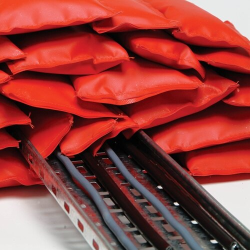 Intumescent Fire Pillows protect cable trays