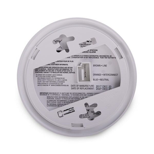 230V mains powered smoke alarm