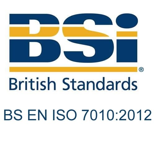 British Standard - BS EN ISO 7010:2012 - Graphical symbols and signs. Safety signs, including fire safety signs. Signs with specific safety meanings