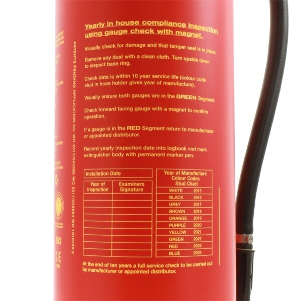 The Britannia P50 Wet Chemical fire extinguisher has a 75F and electrical rating