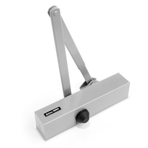 Briton 2003 Overhead Door Closer - Silver Finish