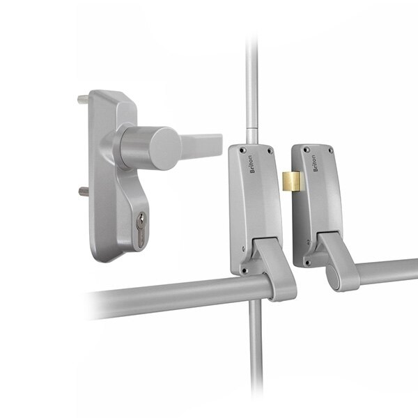 Briton 377 Double Door Panic Bar Set with Lever Operated OAD