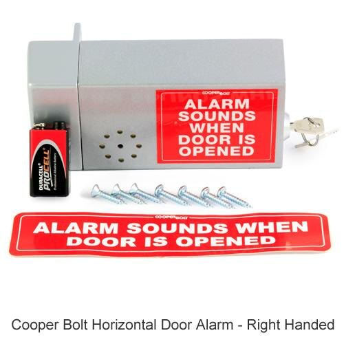 Cooper Bolt Horizontal Door Alarm - right handed version