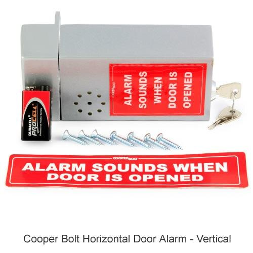 Cooper Bolt Horizontal Door Alarm - vertical version