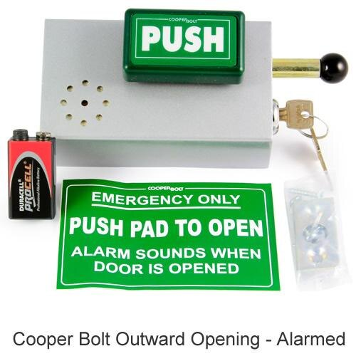 Cooper Bolt Door Bolt with optional alarm facility
