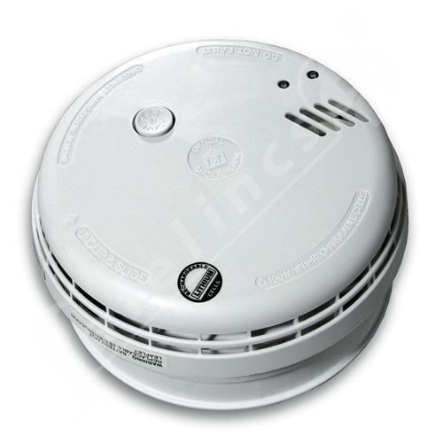 230V Mains Optical Smoke Alarm with 10 year Rechargeable Lithium Cells - Ei166R