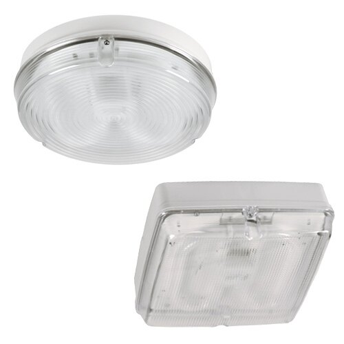 Decorative high output emergency bulkhead LED available in round or square versions