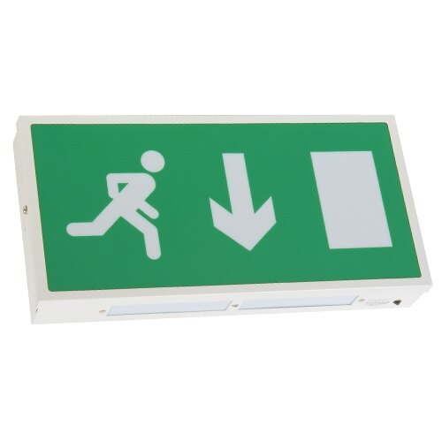 Emergency Escape Route Sign (Fire Exit Box) with Self-Test - ES/ST