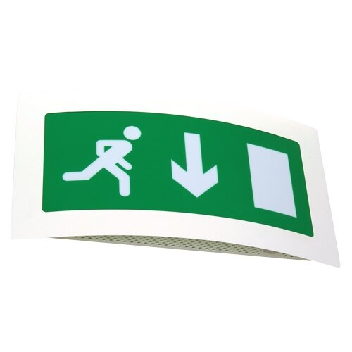 Curved Fire Exit Sign (Fire Exit Box) - ESS