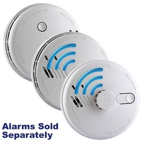 aico mains powered radio interlinked smoke alarms with lithium back up batter. Black Bedroom Furniture Sets. Home Design Ideas