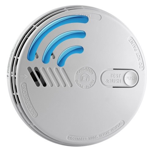 Mains Radio-Interlinked Ionisation Smoke Alarm with Alkaline Back-up - Ei141RF