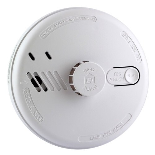 Ei144 - Heat Alarm with Alkaline back-Up battery