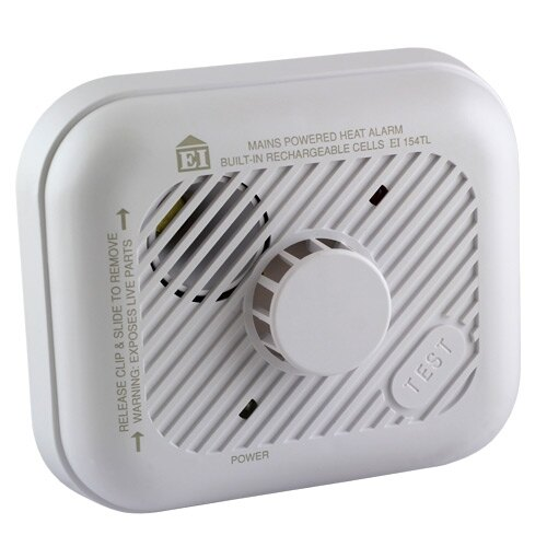 230V Heat Alarm with Lithium Back-up Battery Ei154