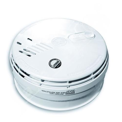 Mains Ionisation Smoke Alarm with 10 year Rechargeable Lithium Cells - Ei161R