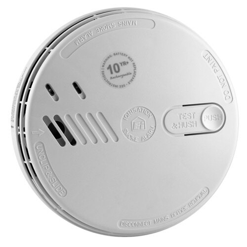 Mains Powered Ionisation Smoke Alarm with Lithium Back-up Battery Ei161RC