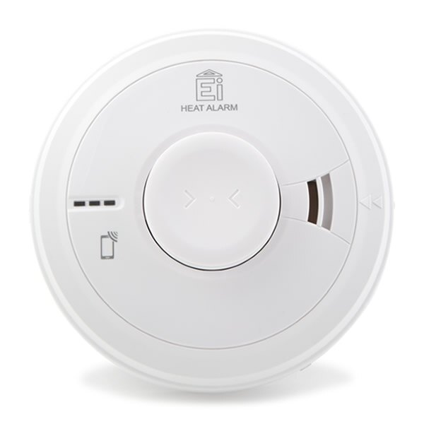 Mains Powered Heat Alarm with Lithium Back-up - Ei3014